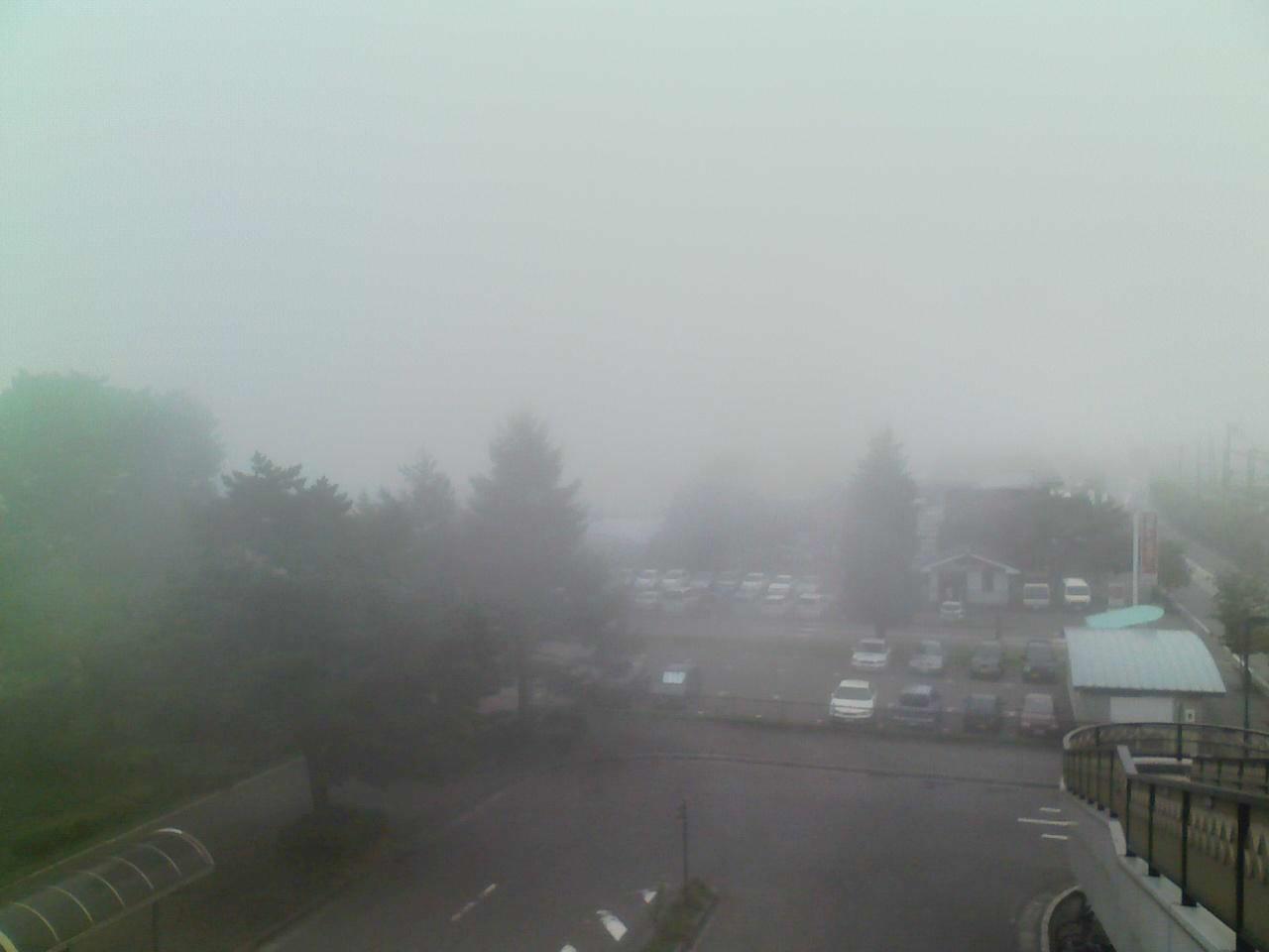 今朝の軽井沢【曇り&霧】