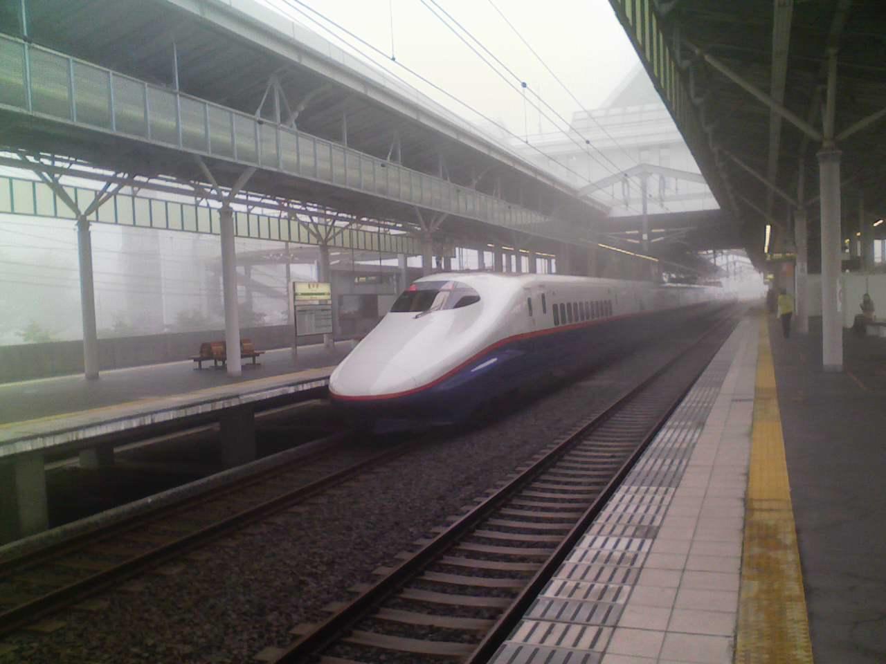 今朝の軽井沢【曇り(濃霧)】