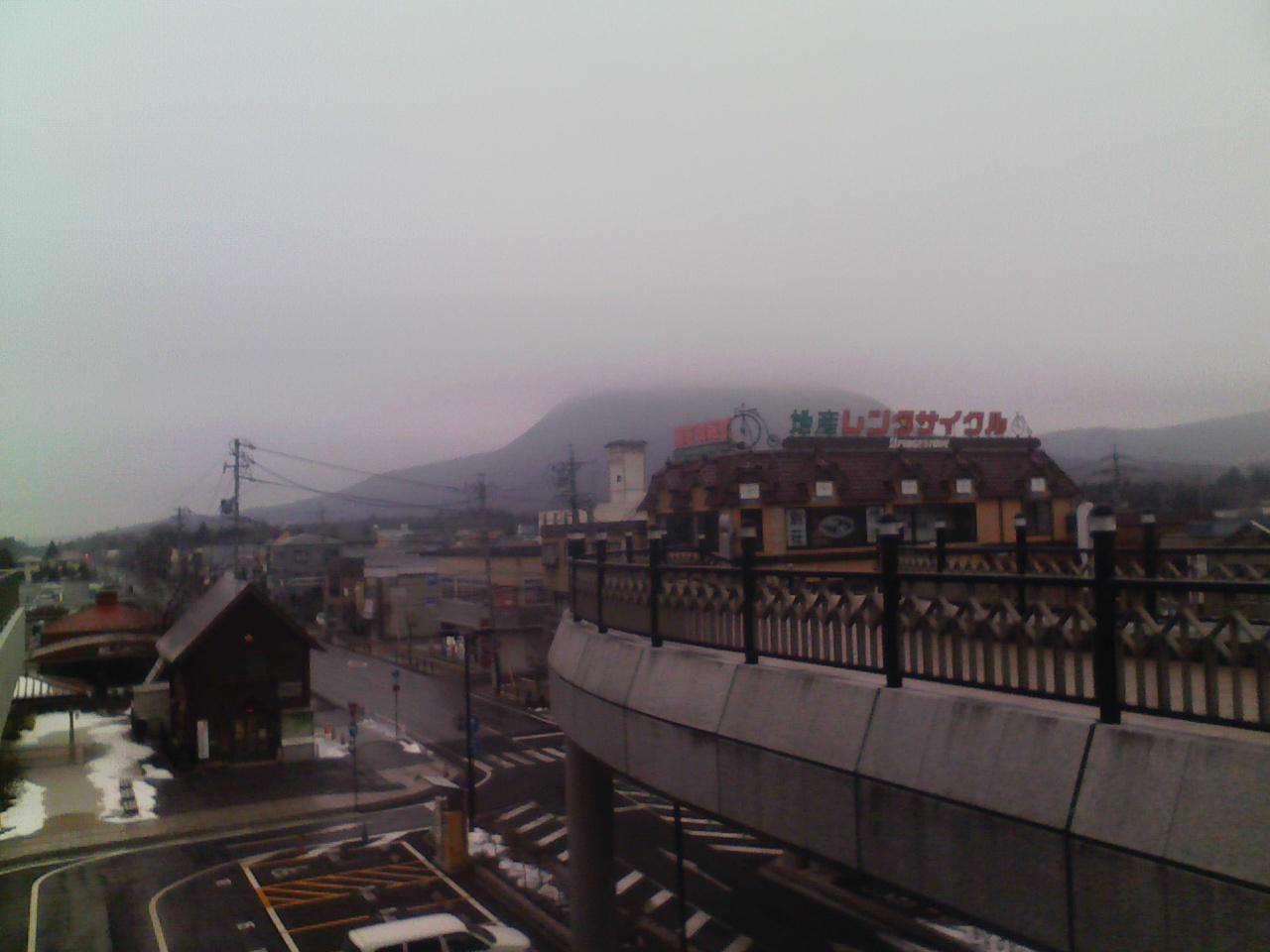 今朝の軽井沢【曇り時々雪または霙】