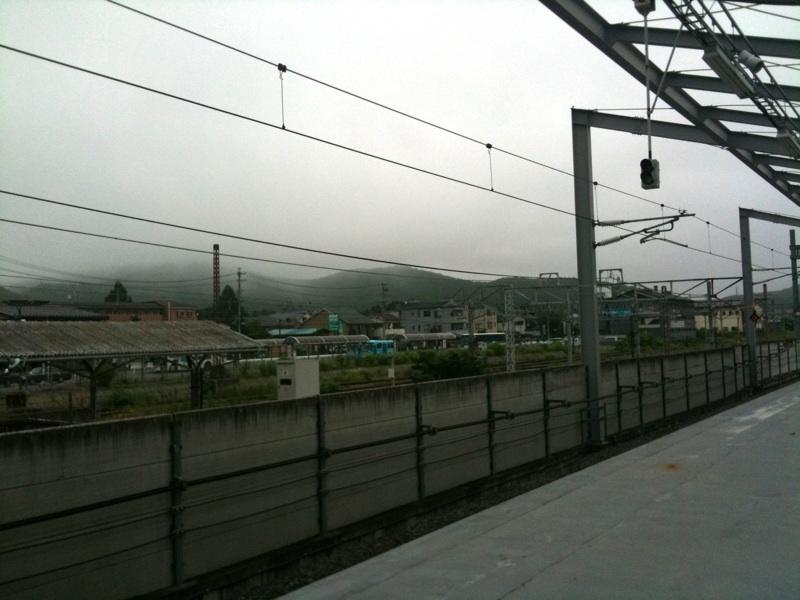 今朝の軽井沢【くもり】