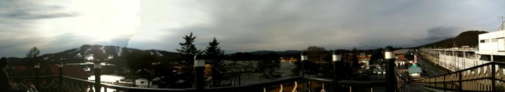 今朝の軽井沢【雨のち曇り】