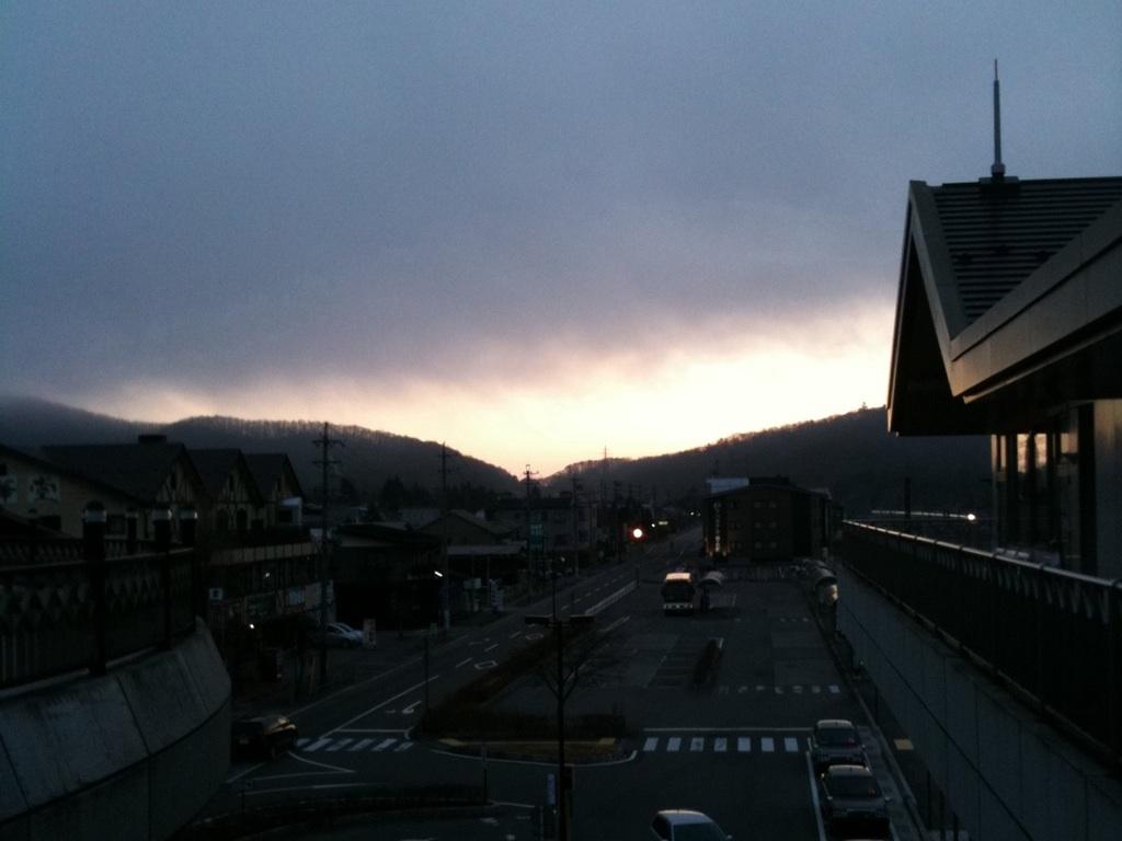 今朝の軽井沢町【曇り】