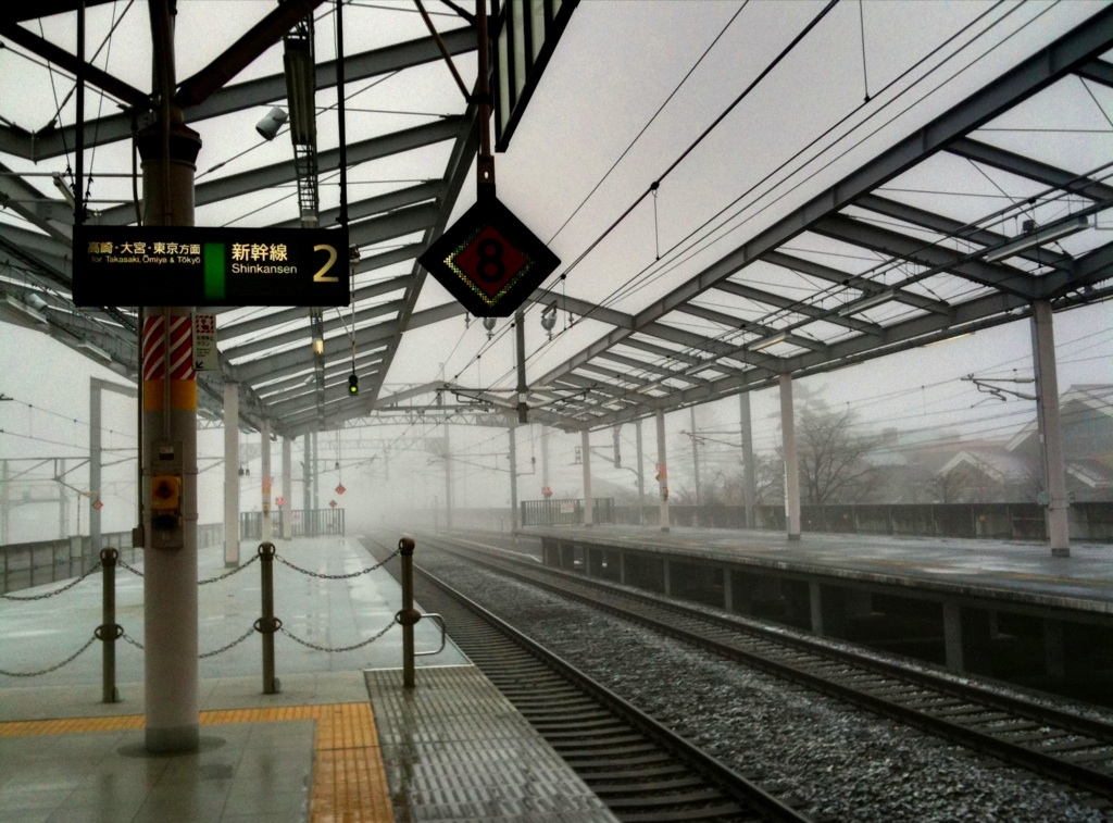 今朝の軽井沢【雪のち霙】