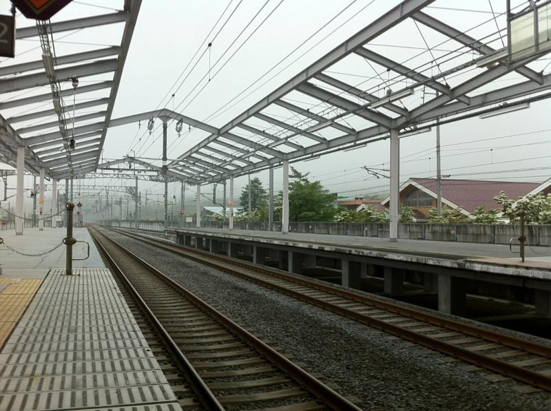 今朝の軽井沢【曇り時々霧雨】
