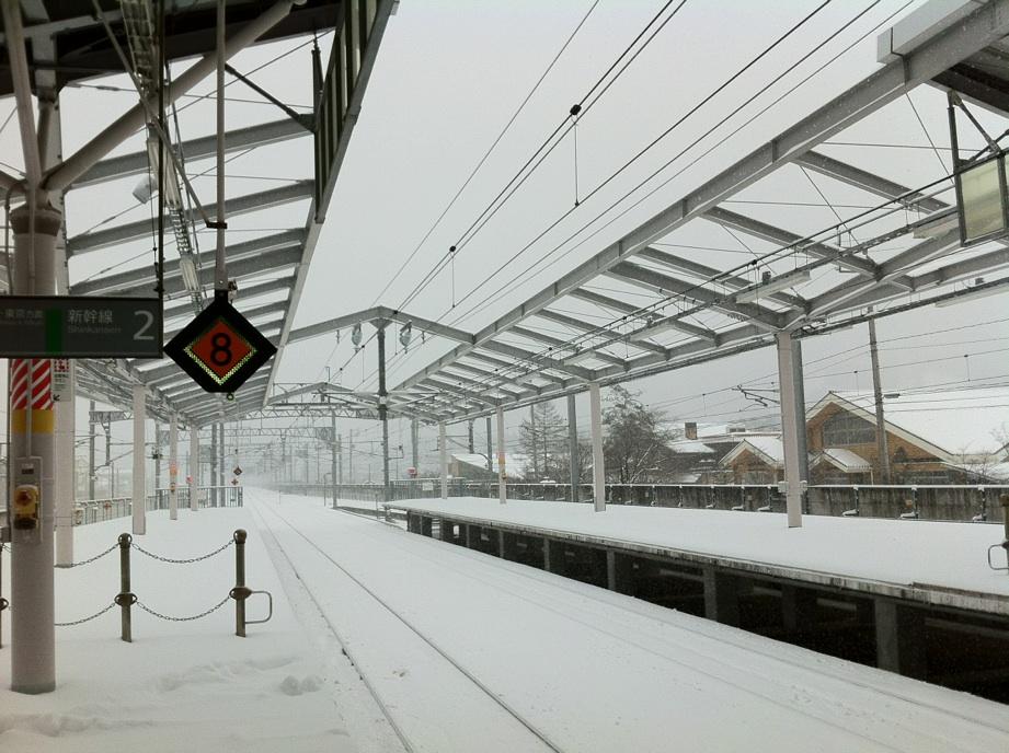今朝の軽井沢町【雪】