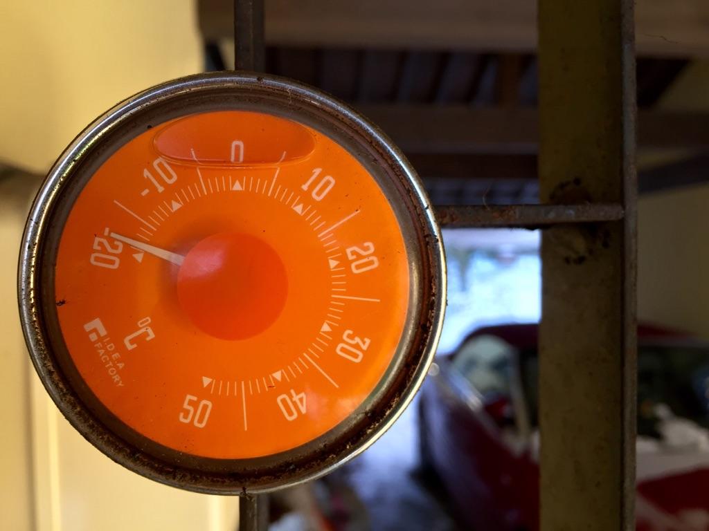 マイナス18℃の朝。