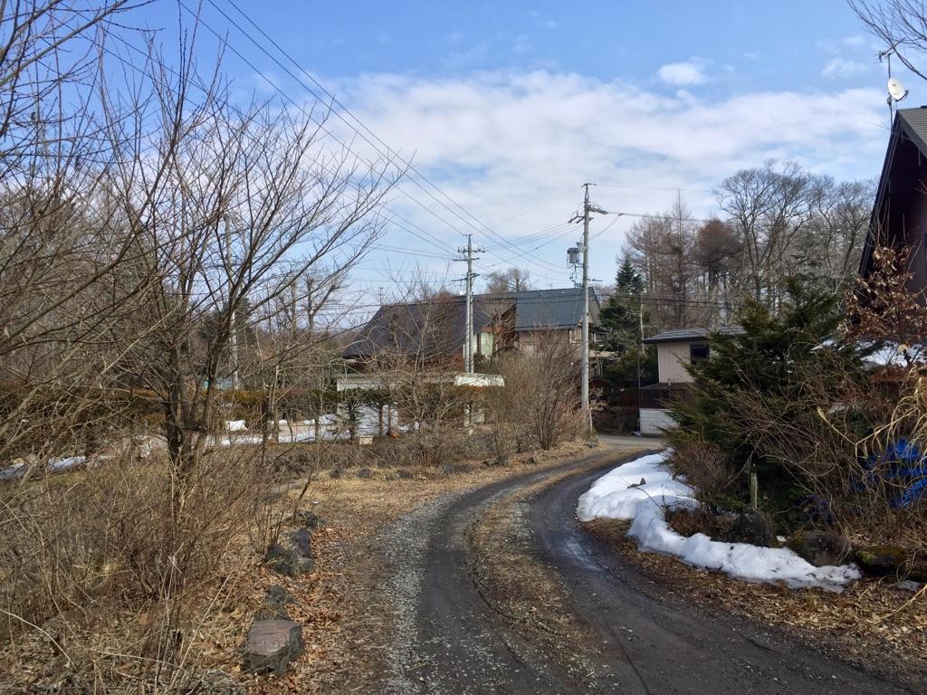 今朝の軽井沢【晴れ時々曇り】