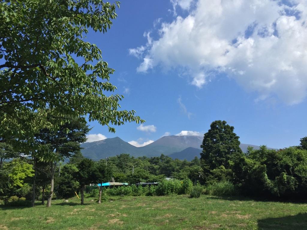 今朝の軽井沢【曇りのち晴れ】