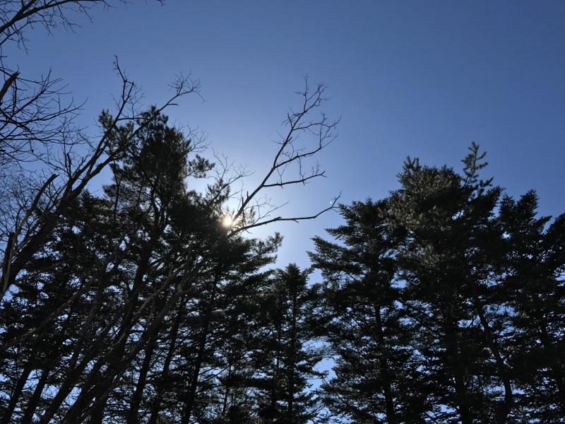 冬の浅間山と煙突点検。