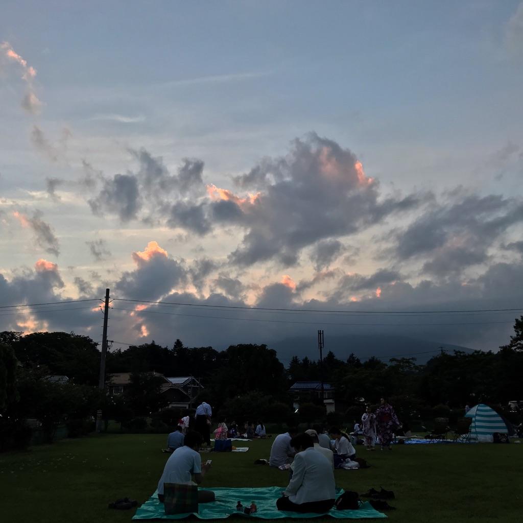 長倉神社の花火大会開始