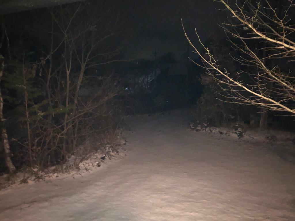 今朝の軽井沢【初雪のち曇り】