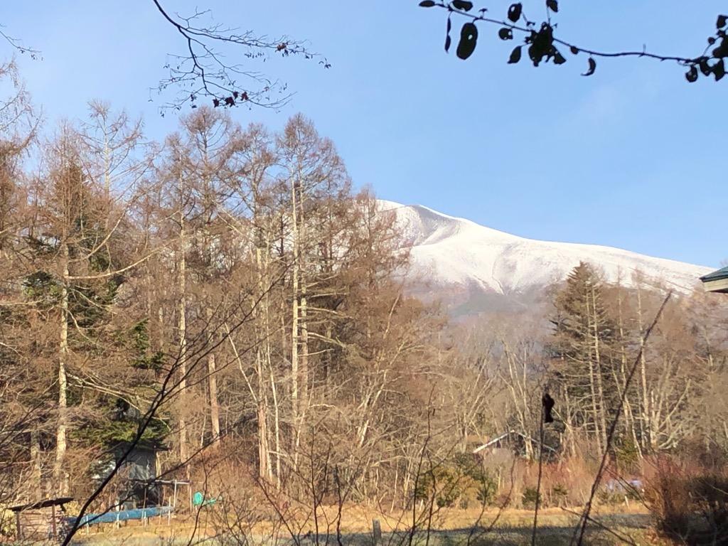 今朝の浅間山。