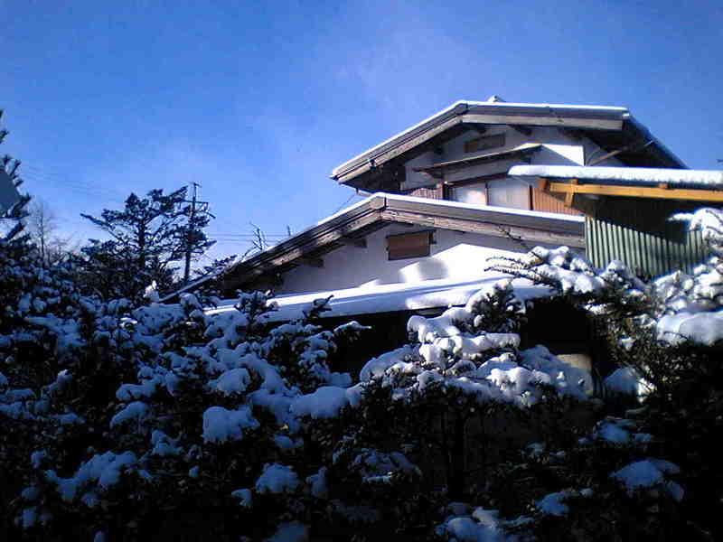 その後の今朝の軽井沢【雪のち晴れ】
