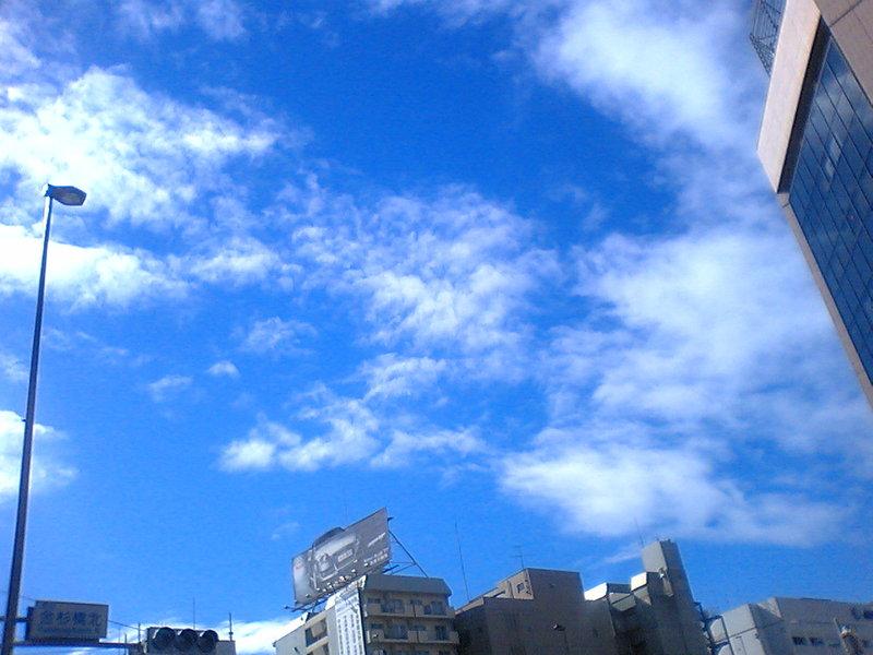 東京もようやく秋晴れ