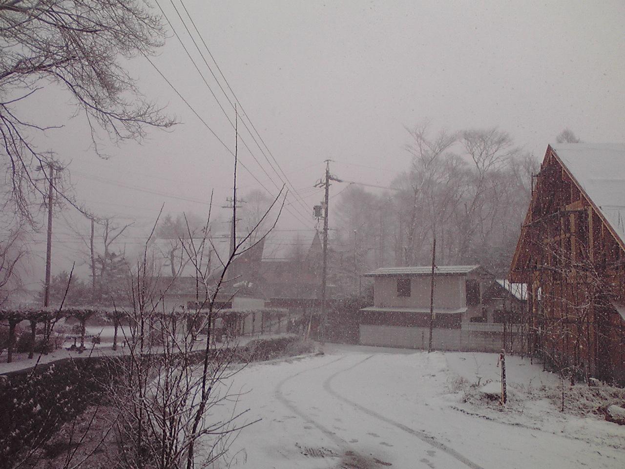 今日の軽井沢【雪】