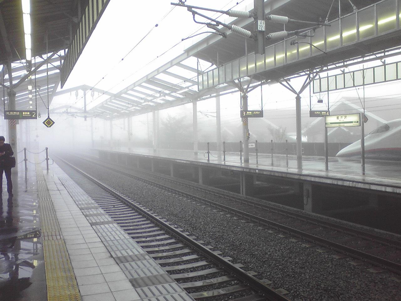 今朝の軽井沢【雨と霧】