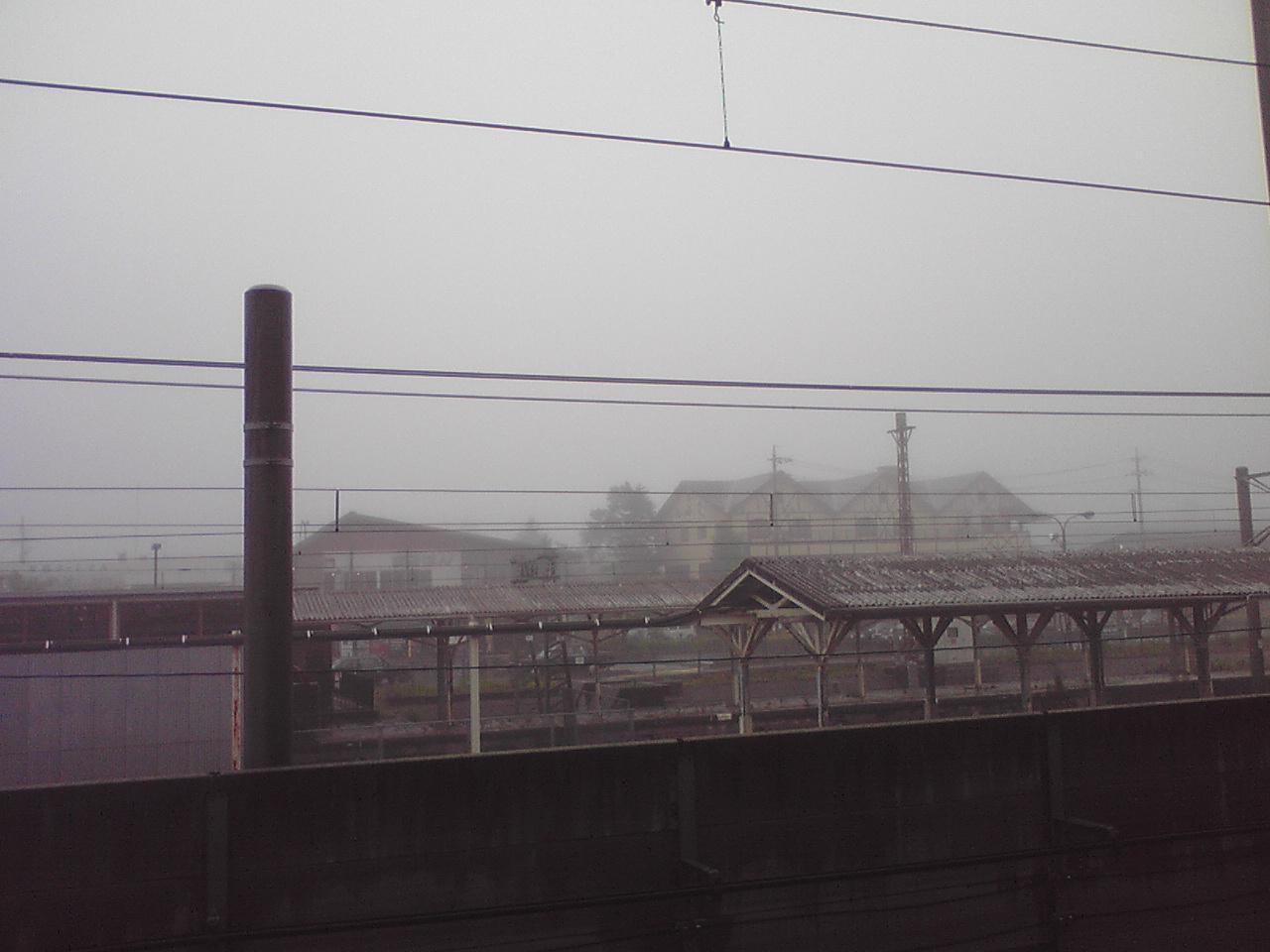 今朝の軽井沢【雨&霧】