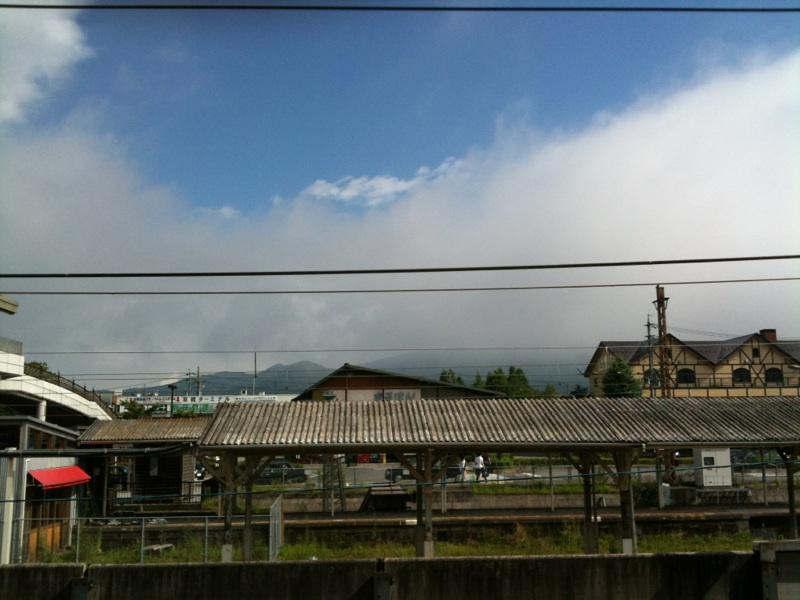 今朝の軽井沢【腫れ時々曇り】