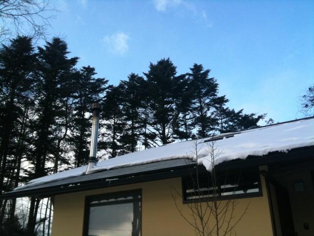 今朝の軽井沢【曇り時々小雪】
