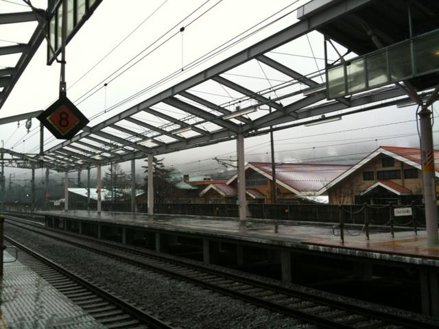 今朝の軽井沢【雨時々霙】