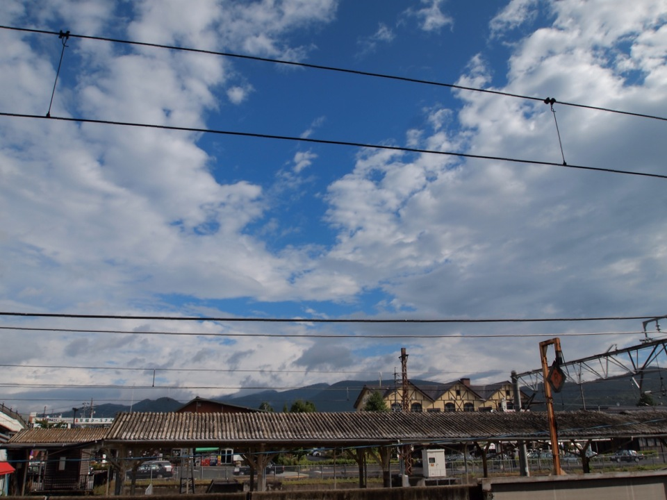 今朝の軽井沢【晴れ時々雨】
