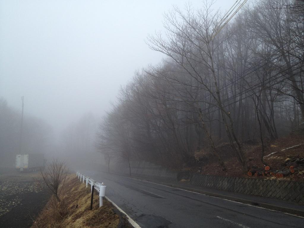 今日の軽井沢【雨のち霧】