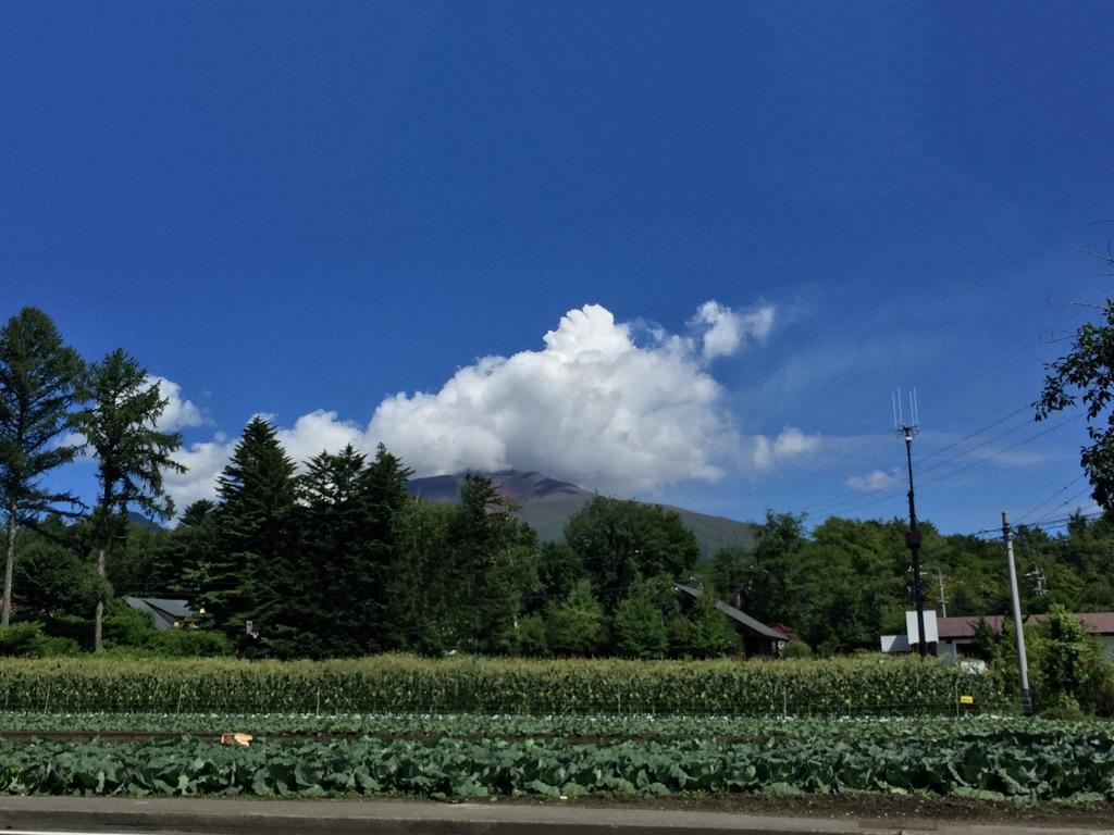 夏の浅間山。