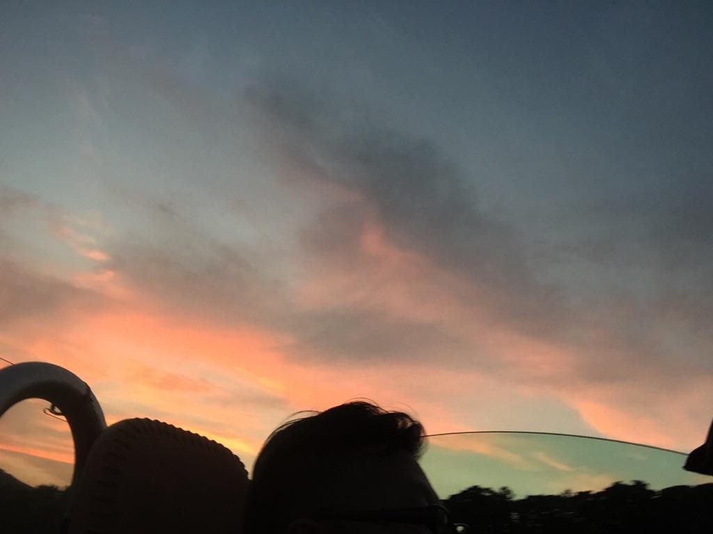 梅雨の晴れ間と夕焼け。