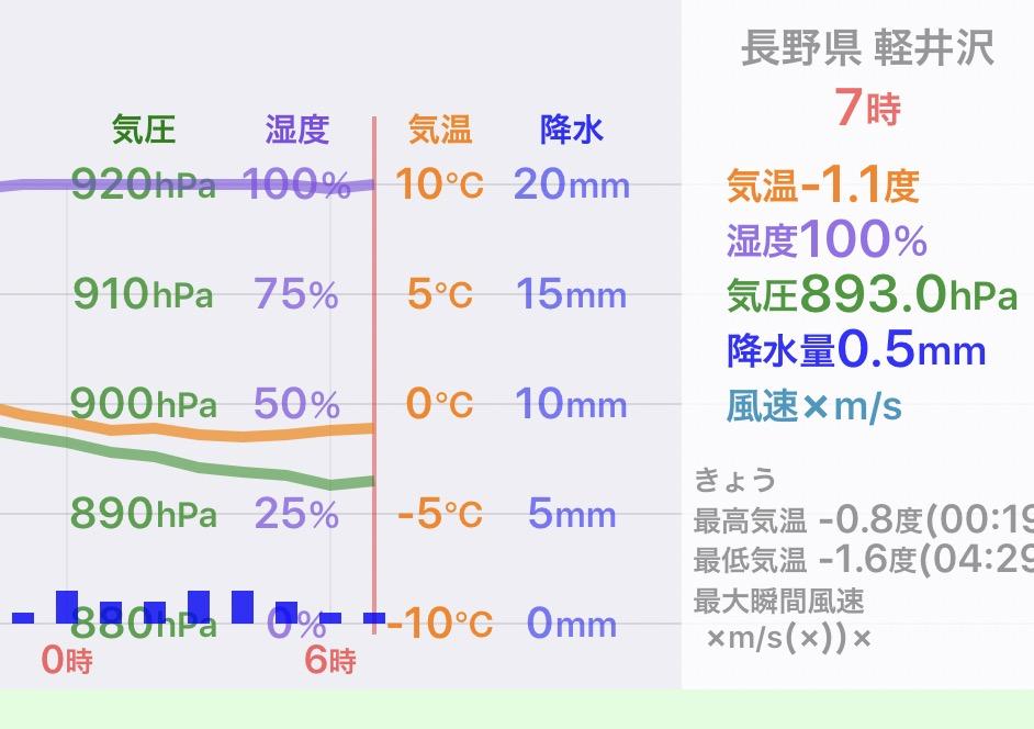 今朝の軽井沢【大雪】