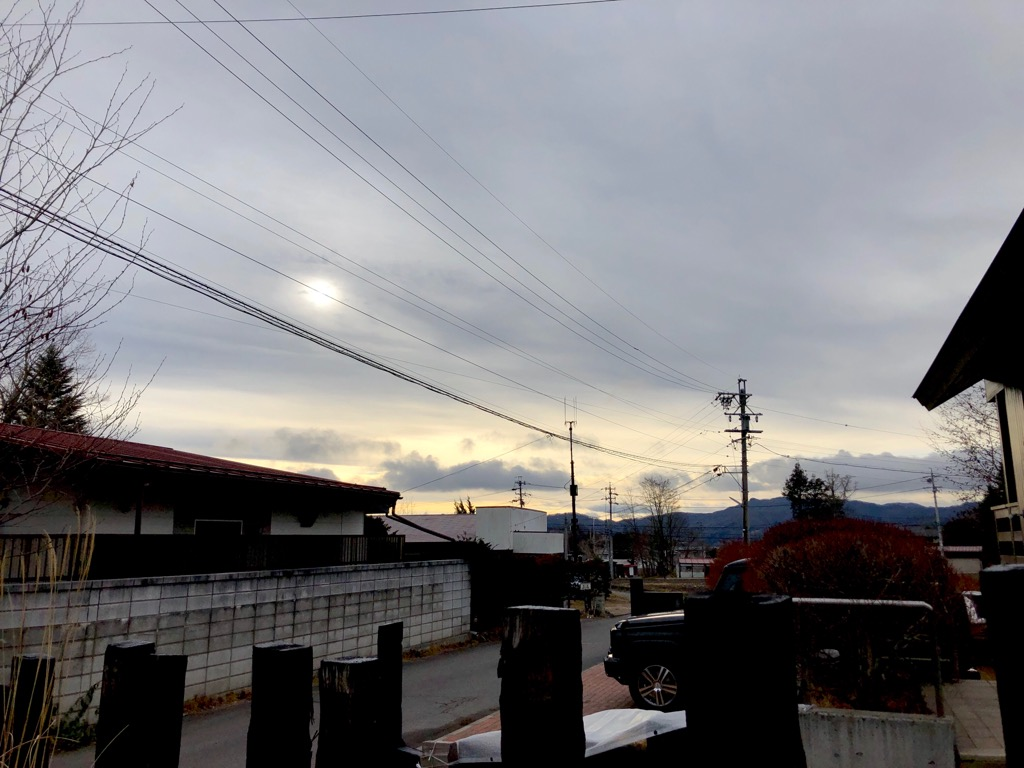 今朝の軽井沢【うす曇り】