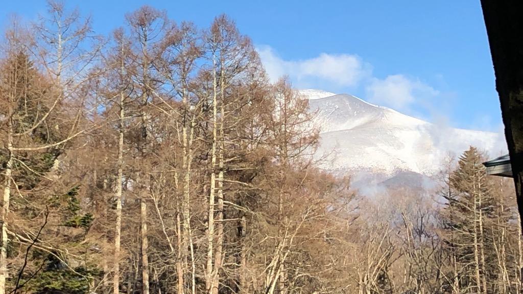 今朝の浅間山