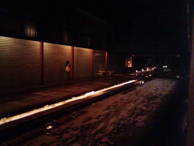 今夜の軽井沢【雪】…そして雪見風呂へ。