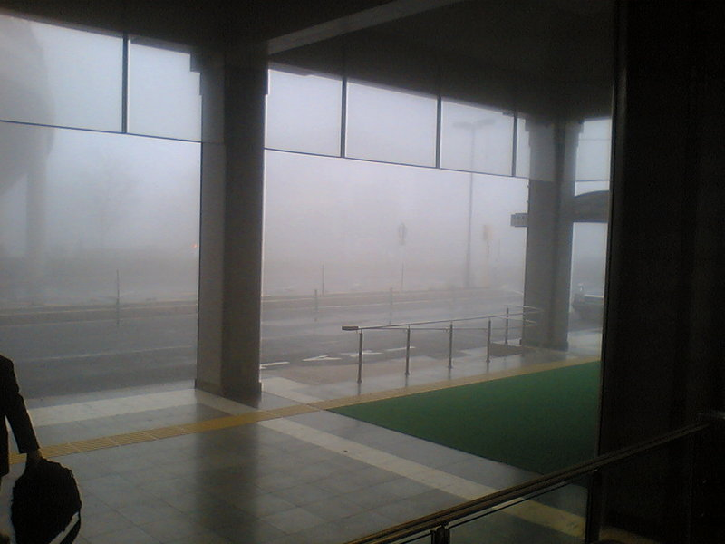 今朝の軽井沢【霧雨&濃霧】