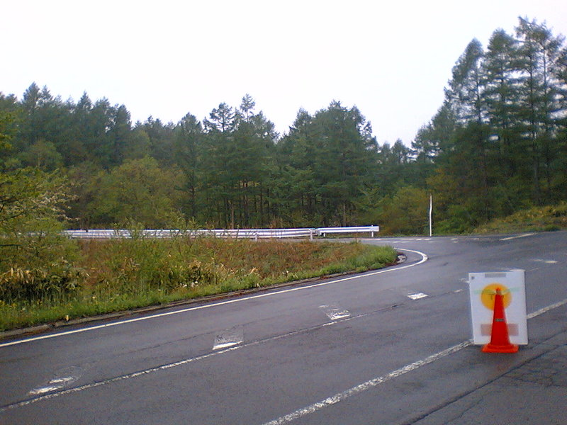 ジーロデ軽井沢は雨